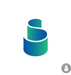 S letter color ribbon logo template vector