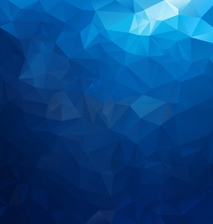 Sea water blue polygonal triangular pattern vector