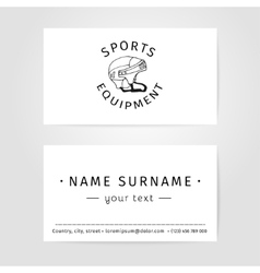 Business cards design for trainers and vector