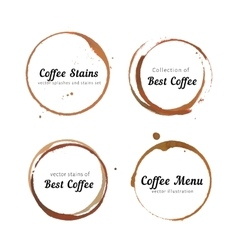 Coffee stain circles for logo vector image