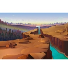 Canyon nature background vector image