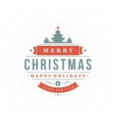 Merry christmas greeting card background vector