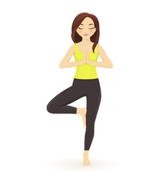 Young woman practicing yoga vector