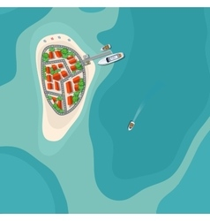 Island paradise view vector