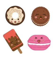Sweet design Dessert icon Colorfull vector image