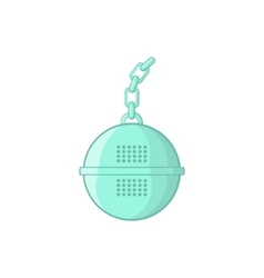 Steel strainer icon cartoon style vector