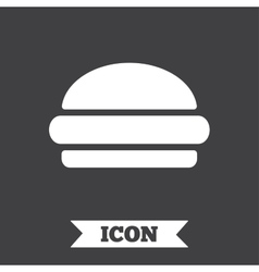 Hamburger sign icon fast food symbol vector