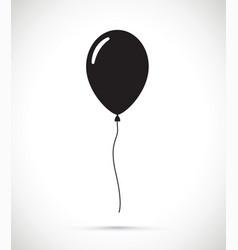 A black balloon vector