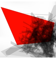 Abstract 3d geometric lines modern design EPS 8 vector image