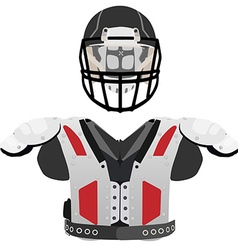 American football helmet and armour vector image vector image