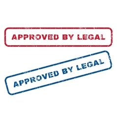 Approved by legal rubber stamps vector