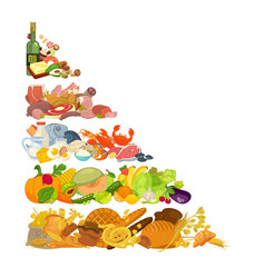 Assortment of different food vector