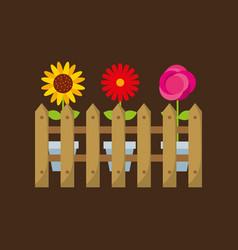 beautiful garden flat icons vector image vector image