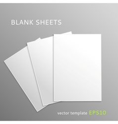 Blank paper sheets vector image vector image