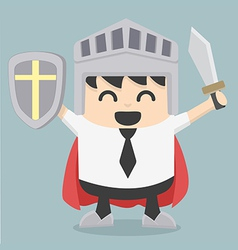 Businessman holding sword vector image vector image