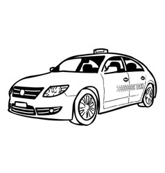 Cartoon image of taxi icon car symbol vector
