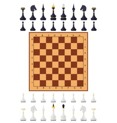 Chess table game chess figure vector