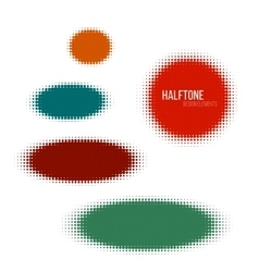 color halftone design elements vector image vector image