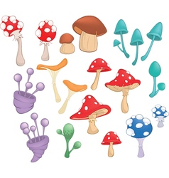 Different Mushrooms for Computer Game vector image vector image