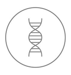 Dna line icon vector