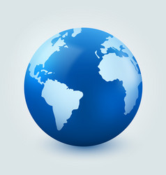 Earth globe on white background internet vector