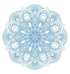 Ethnic mandala symbol for coloring book vector
