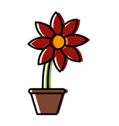 Flower in vase vector