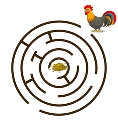 Game labyrinth find a way rooster vector