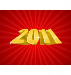 golden 2011 year vector image vector image