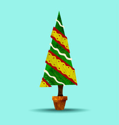 Green holiday christmas tree plant vector