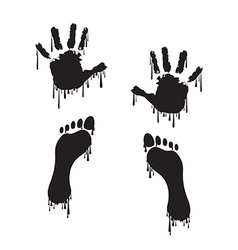 Handprint and footprint vector image vector image