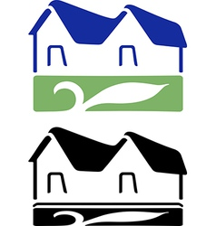 House sign vector image vector image