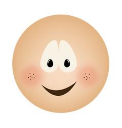 Human face emoticon smile expression vector