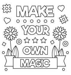 Make your own magic coloring page vector
