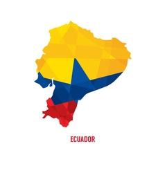 Map of ecuador vector