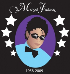michael jackson rip vector image