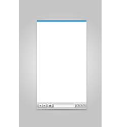 Opened browser windows template vector image