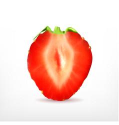 ripe strawberry slice vector image