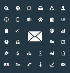 Set of simple business icons elements cooperation vector