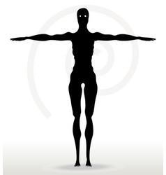 Skeleton silhouette in default pose vector