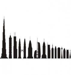 skyscrapers vector image