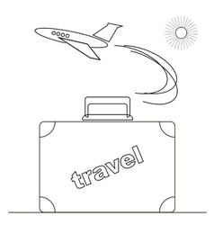 Travel or Vacation Linear Icon vector image vector image