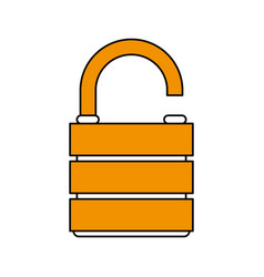 Unlocked lock design vector