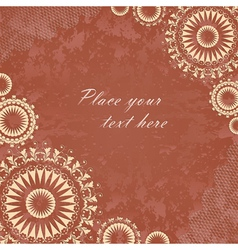 Vintage banner with floral lace vector image vector image