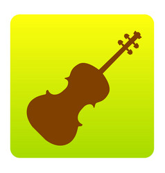 violine sign brown icon at vector image