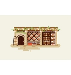 Interior of wine cellar for storing vector
