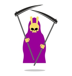 Bunny death purple cloak and scythe grim reaper vector