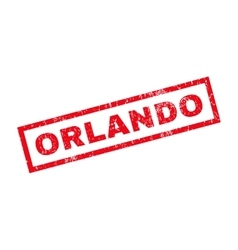 Orlando rubber stamp vector