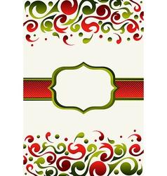 Christmas invitation background vector image