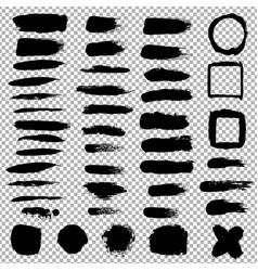 black blobs set vector image